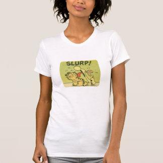 Slurp! Odie, a camisa das mulheres Tshirt