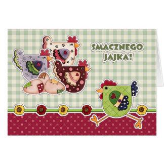 Smacznego Jajka. Cartões de páscoa poloneses