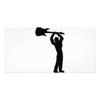 smasher da guitarra da rocha cartão com foto