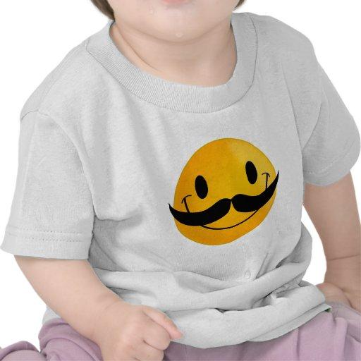 Smiley com bigode t-shirt
