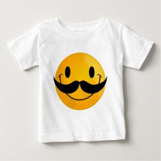 Smiley com bigode tshirts