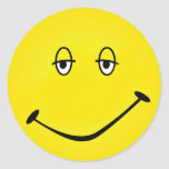 Smiley cozido adesivo redondo