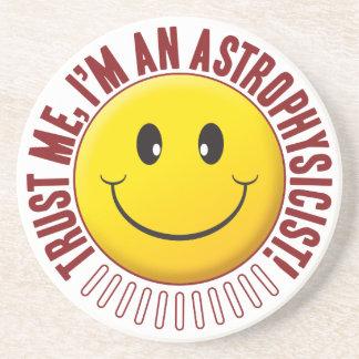 Smiley da confiança do Astrophysicist Porta Copos De Arenito