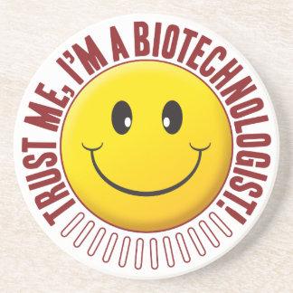 Smiley da confiança do Biotechnologist Porta Copos De Arenito
