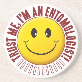 Smiley da confiança do entomologista porta copos de arenito