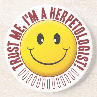 Smiley da confiança do Herpetologist Porta Copos De Arenito