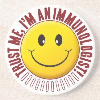 Smiley da confiança do imunologista porta copos de arenito