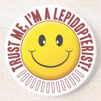 Smiley da confiança do Lepidopterist Porta Copos De Arenito