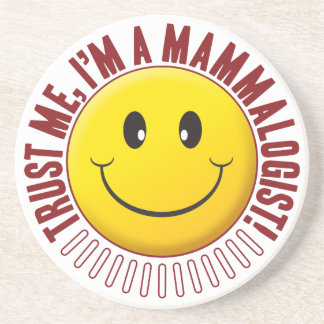 Smiley da confiança do Mammalogist Porta Copos De Arenito