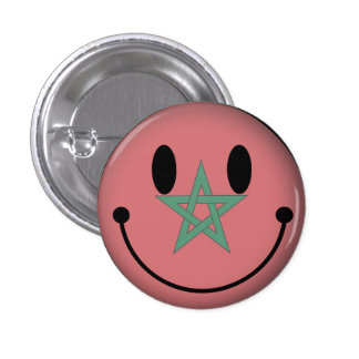 Smiley de Marrocos Bóton Redondo 2.54cm