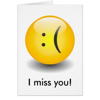 Smiley de Txt - cartão triste