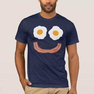 Smiley do bacon dos ovos camiseta
