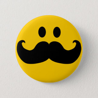 Smiley do bigode bóton redondo 5.08cm