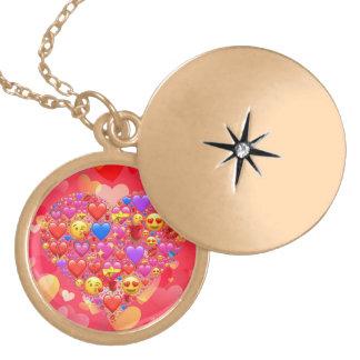 Smiley do coração colar medalhão