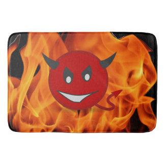 Smiley do diabo tapete de banheiro
