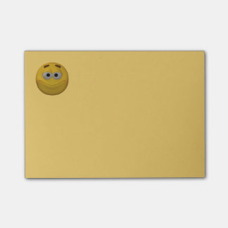 smiley do estilo 3d bloco post-it
