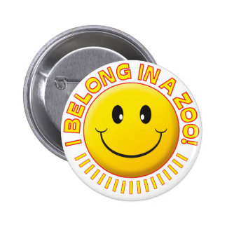 Smiley do jardim zoológico botons