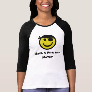 Smiley do pirata camiseta