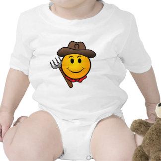 Smiley do vaqueiro babadores