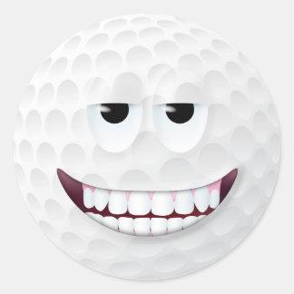 Smiley face 2 da bola de golfe adesivo
