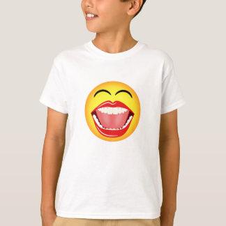 Smiley face aberto grande de riso engraçado Emoji Camiseta