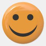 Smiley face adesivo redondo