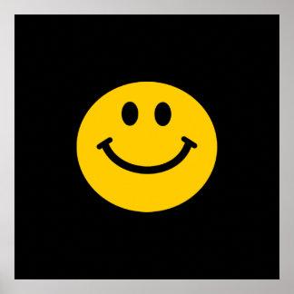 Smiley face amarelo pôsteres
