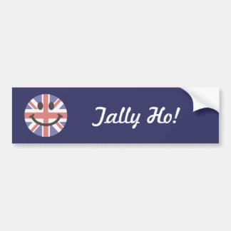 Smiley face britânico da bandeira adesivo para carro