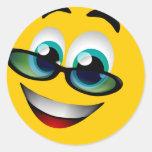 SMILEY FACE COM VIDROS ADESIVOS EM FORMATO REDONDOS
