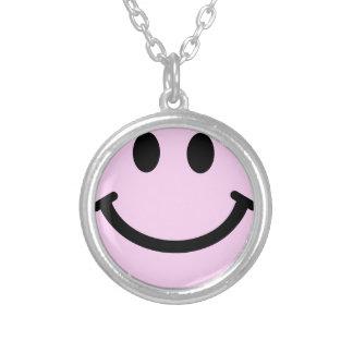 Smiley face cor-de-rosa pingente