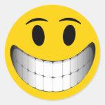 Smiley face grande amarelo do sorriso adesivo