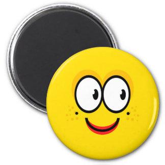 Smiley face - ímã amarelo ímã redondo 5.08cm