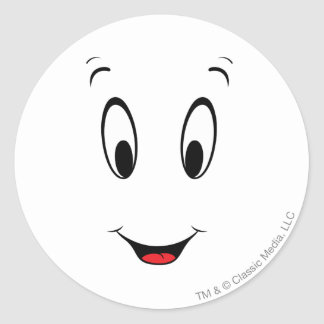 Smiley face super de Casper Adesivos Em Formato Redondos