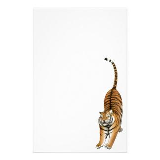 Smiley que estica artigos de papelaria do tigre de