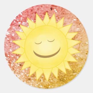 Smiley Sun: Etiquetas 2 do brilho do arco-íris