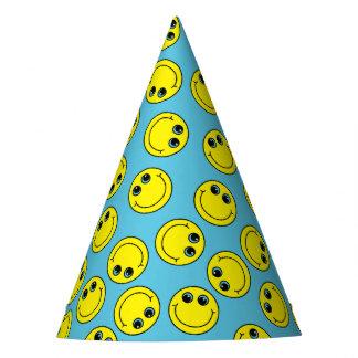 Smileys face amarelos chapéu de festa
