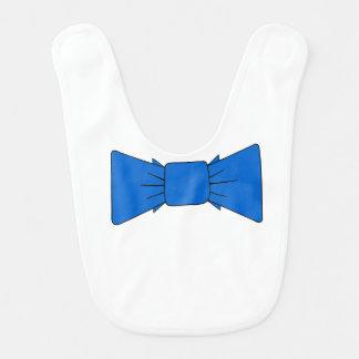 Smoking azul do laço do babador do bebê formal