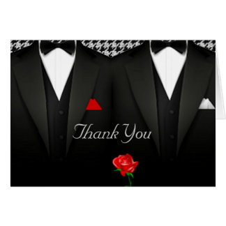 Smoking elegante dos cartões de agradecimentos