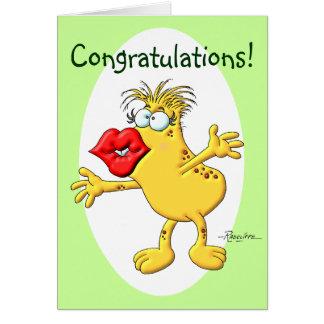 Smooch das felicitações cartão comemorativo
