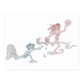 snatcher do sol do macaco cartão postal