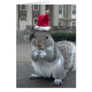 Sneezy o cartão de Natal do esquilo