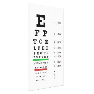 snellen a oftalmologia da carta impressão de canvas envolvida