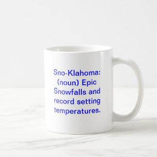 Sno-Klahoma: (substantivo) quedas de neve épicos e Caneca De Café