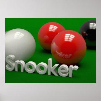 Snooker Pôster