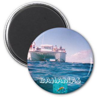 Snorkeling no ímã de Bahamas Ímã Redondo 5.08cm