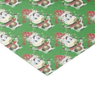 Snowbell o lenço de papel do verde do Natal da