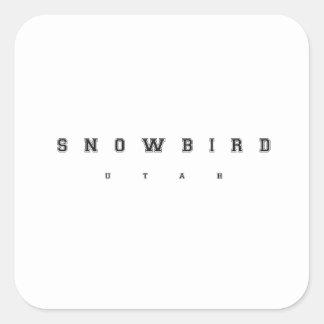 Snowbird Utá Adesivo Quadrado