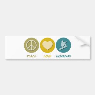 Snowboard do amor da paz adesivos