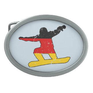 SNOWBOARDER alemão da bandeira (preto)