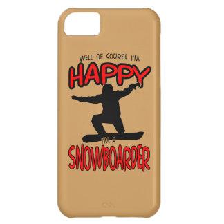 SNOWBOARDER feliz (preto) Capa Para iPhone 5C